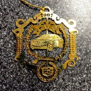 Cadillac Automobile 24K Gold Finish Ornament Filig